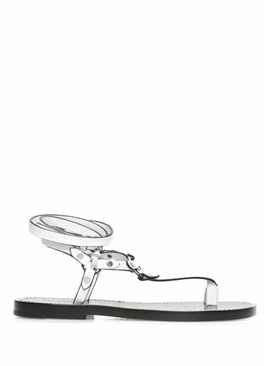 Etoile İsabel Marant %100 Deri Parmak Arası Sandalet Beyaz